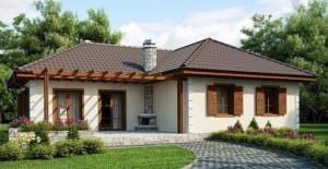 Внешний вид дома с верандой зависит от предпочтений владельцев, может быть отделан сайдингом, покрашен или пропитан лаком