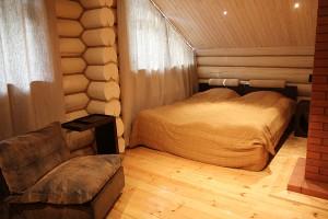 двухэтажная баня с террасой