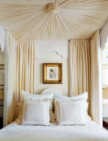 Декор потолка тканью своими руками