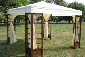Менять место, где будет располагаться беседка шатер для дачи можно хоть каждый день