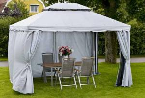 Беседка шатер для дачи – преимущества