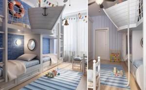 Дизайн комнаты для двух мальчиков. Варианты