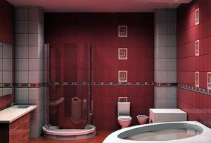 Дизайн ванной в квартире дополнят зеркала, полочки, шкафчики