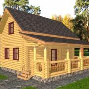 Дом из бревна с мансардой – экономичный вариант дачной постройки.