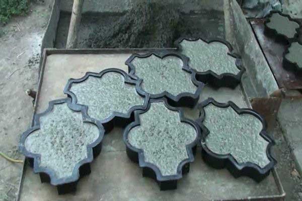 Форма для изготовления плитки тротуарной своими руками