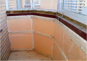 Утепление лоджии изнутри можно произвести, используя любой материал, предназначенный для утепления.