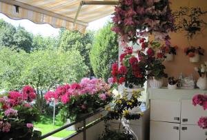 Также край балкона можно дополнить цветами в горшках