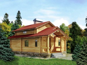 Для домов из бруса целесообразно использовать ленточный фундамент