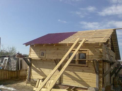 Дача крыша своими руками фото