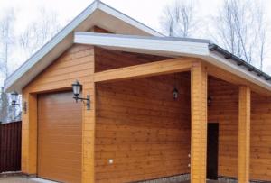 Отличным решением для экономии пространства станет баня с гаражом.