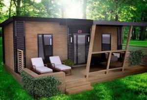 Также предлагаются проекты, в которых бытовки дачные деревянные с верандой имеют смежные комнаты