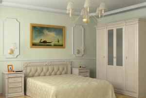 Создавая декор для спальни, следует избегать красных оттенков