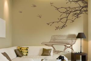 Вы можете выбрать декор стен той сложности, которая будет по силам именно вам.