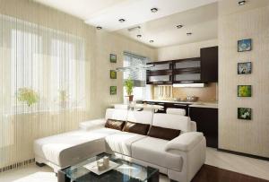 дизайн маленьких квартир сведется к раздельному планированию маленьких зон в едином стиле.