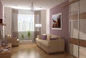 Увеличить пространство поможет мебель небольших размеров