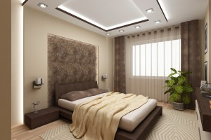В дизайне комнаты спальни лучше отдать предпочтение теплым оттенкам..