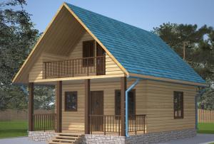Дом из бруса с террасой будет гармоничнее выглядеть с деревянным полом, так как это открытое помещение, то пол в обязательном порядке должен быть загрунтован и окрашен