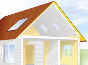 Двухскатная мансардная крыша – плюсы