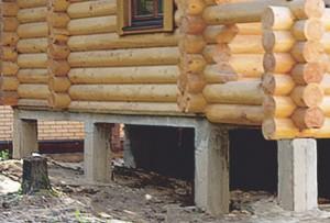 такой фундамент деревянного дома можно возвести за два-три дня
