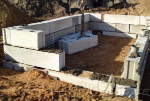 Сверху ваш готовый ленточный фундамент из блоков так же необходимо гидроизолировать
