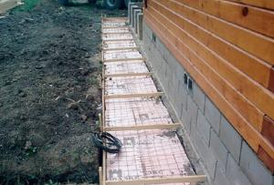 Как сделать фундамент под стоящий дом?