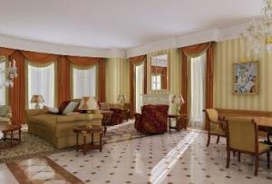 Элементами, дополняющими интерьер гостиной в доме, могу стать камин, домашний кинотеатр