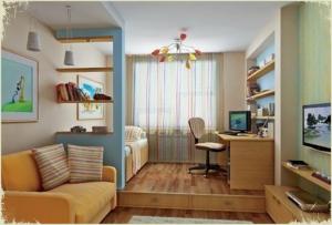 Хозяева же квартиры студии чаще задаются вопросом, как разделить комнату на зоны.