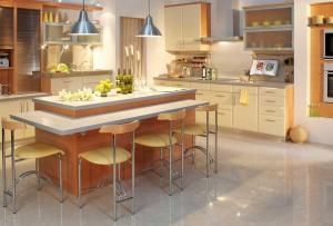 Кухня — помещение с повышенной влажностью, это стоит учесть при выборе материалов и мебели