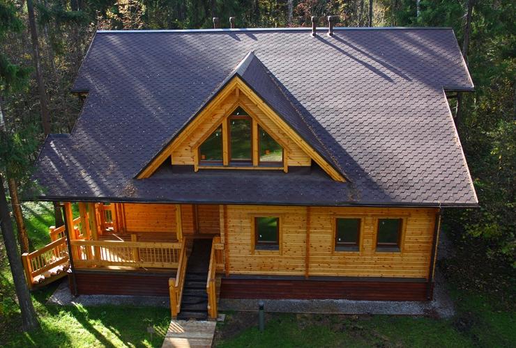 Формы крыши частных домов фото