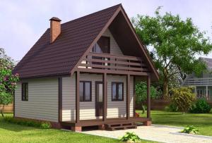 По той же причине крыша для дачи не требует сложных форм.