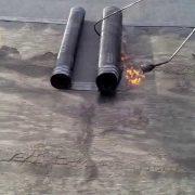 Наплавление гидроизоляции на крышу