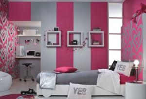 Также можно использовать обои дизайн комнат в сочетании с другими отделочными материалами
