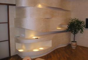 Обшивка стен гипсокартоном и отделка гипсокартона дает очень много возможностей для дизайна.