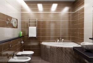 отделка ванной необязательно должна сводиться только к керамической плитке и мозаике