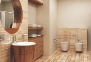 в последнее время все популярнее становится деревянная отделка ванной