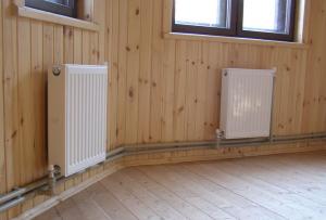 Отопление частного дома в этом случае производиться с помощью газового котла.