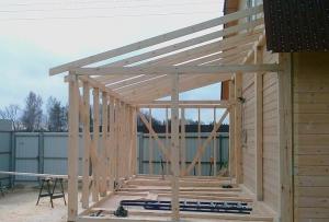 Веранда к деревянному дому своими руками может быть возведена нескольких видов