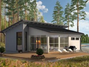 Проекты одноэтажных дачных домов с верандой – преимущества