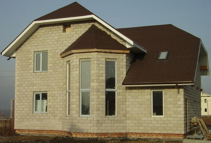 дом, пеноблок, проект, коттедж