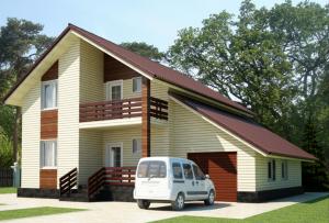 Проекты домов с гаражом бывают очень интересны в своем выполнении.