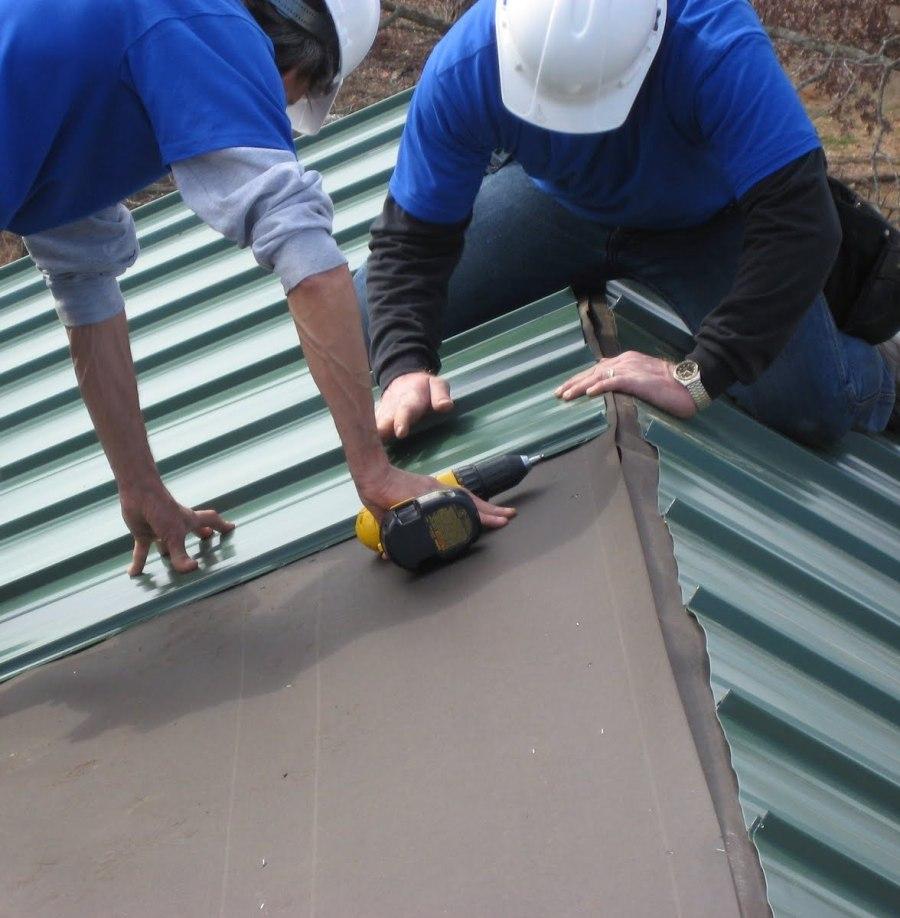 Ремонт крыши частного дома своими руками профнастилом