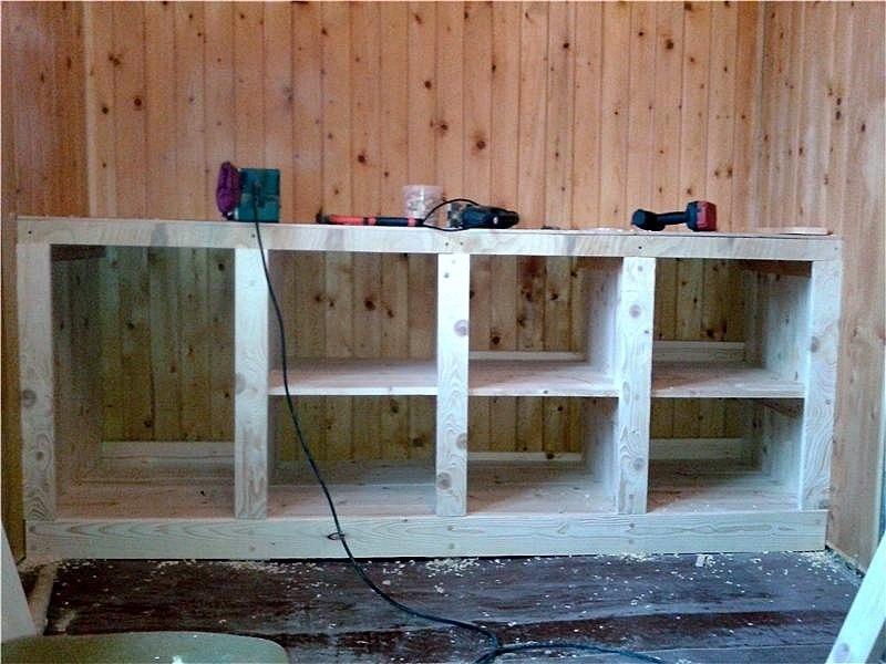 Кухня деревянная своими руками фото