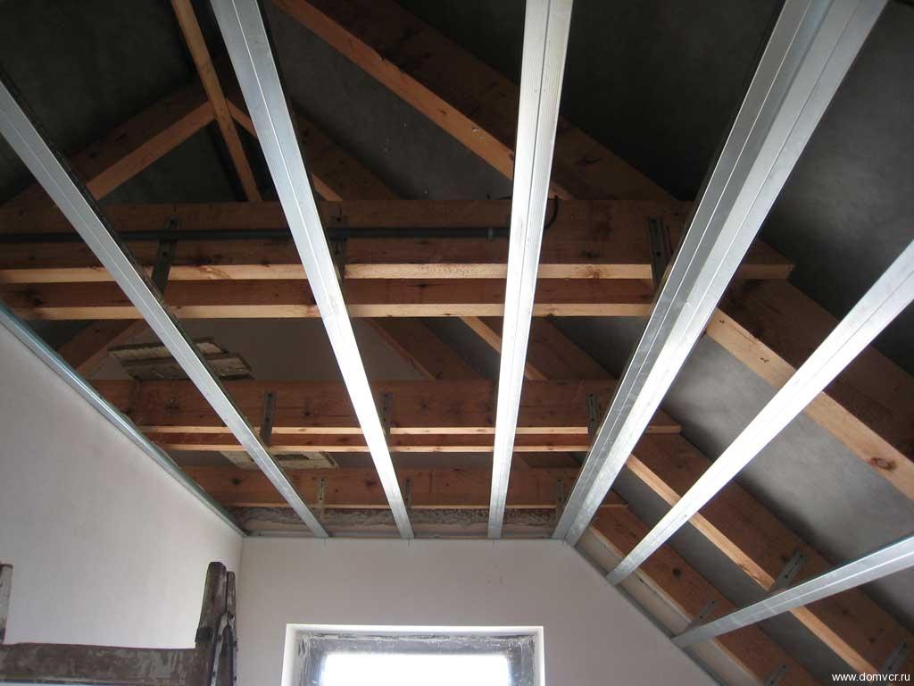 Как подшить потолок гипсокартоном своими руками