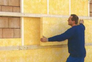 Утепление фасада дома можно сделать, используя минеральную вату