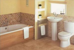 Классический вариант отделки – использование керамической плитки