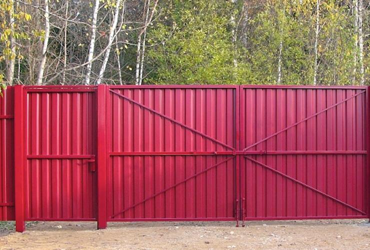Ворота для дачи из профлиста